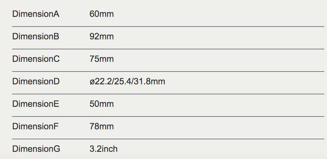dimensions du display 850