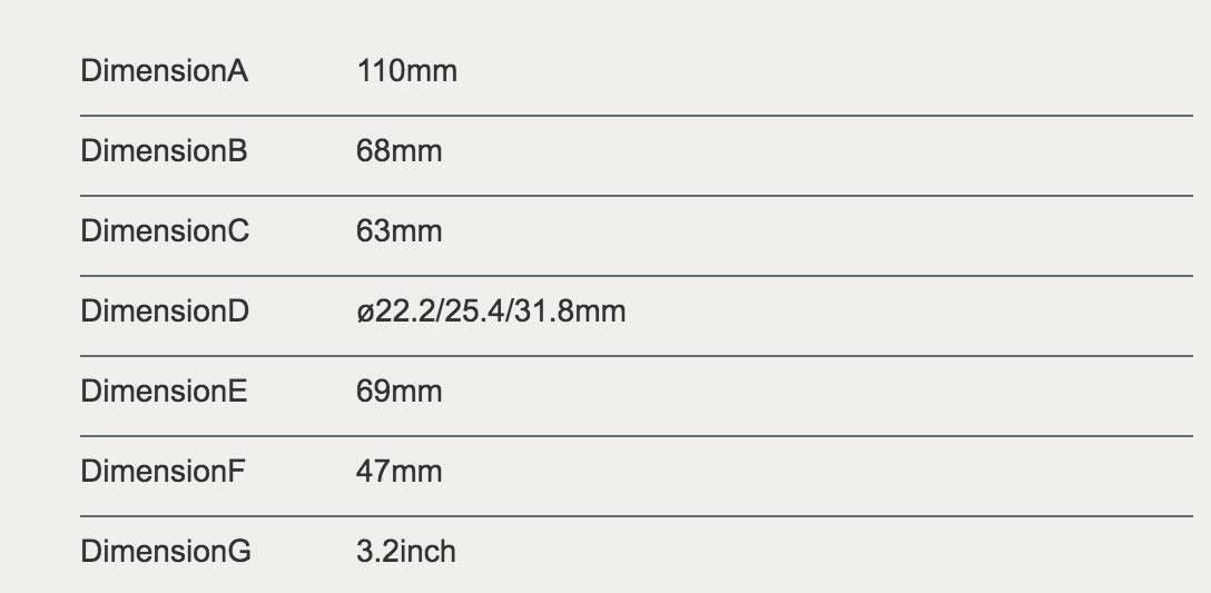 dimensions du display 750c