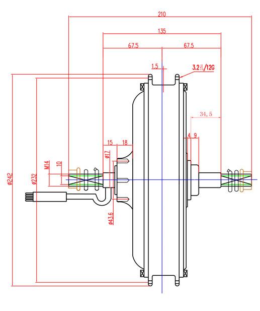Dimensions Moteur RH205