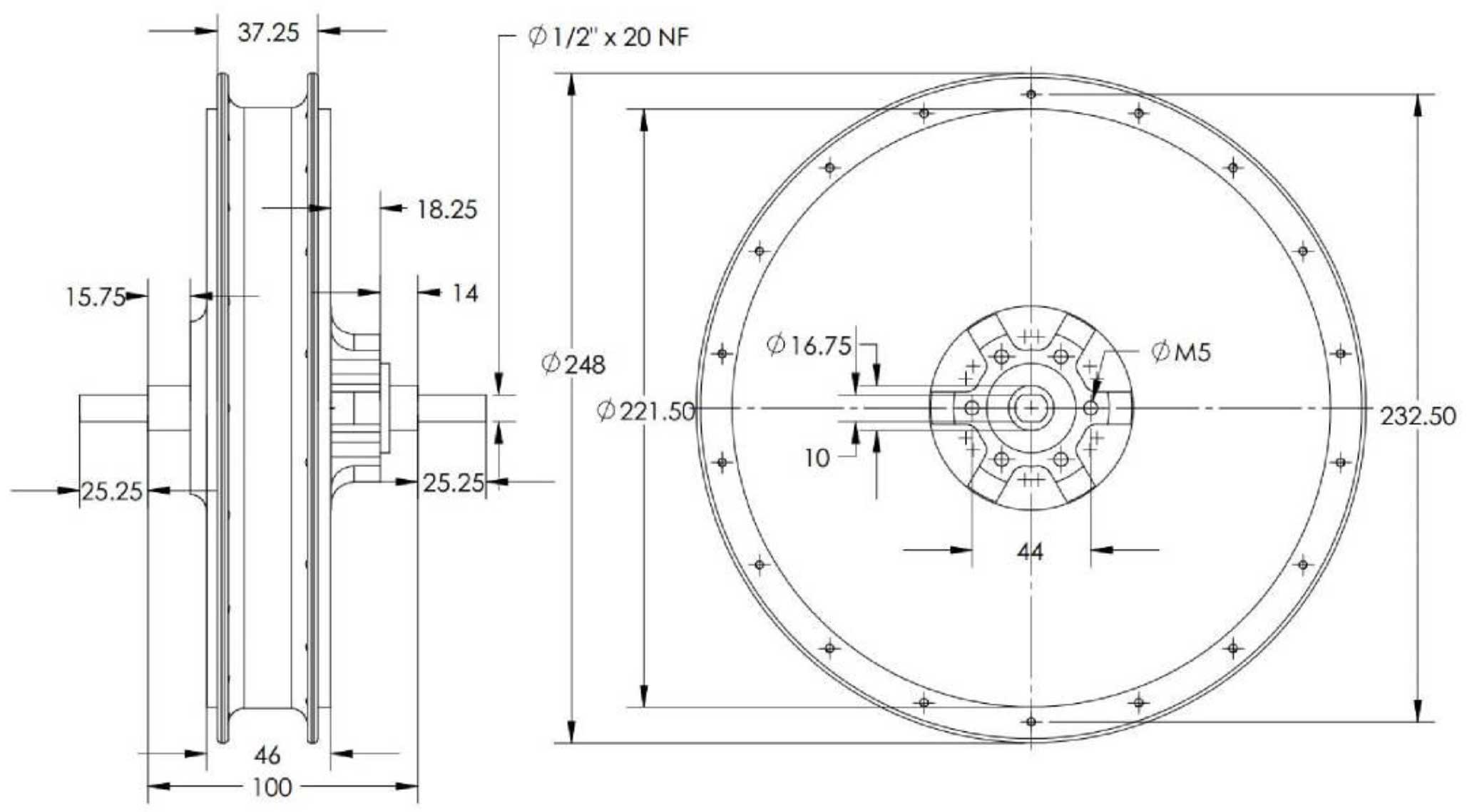 plan 2D HS2440