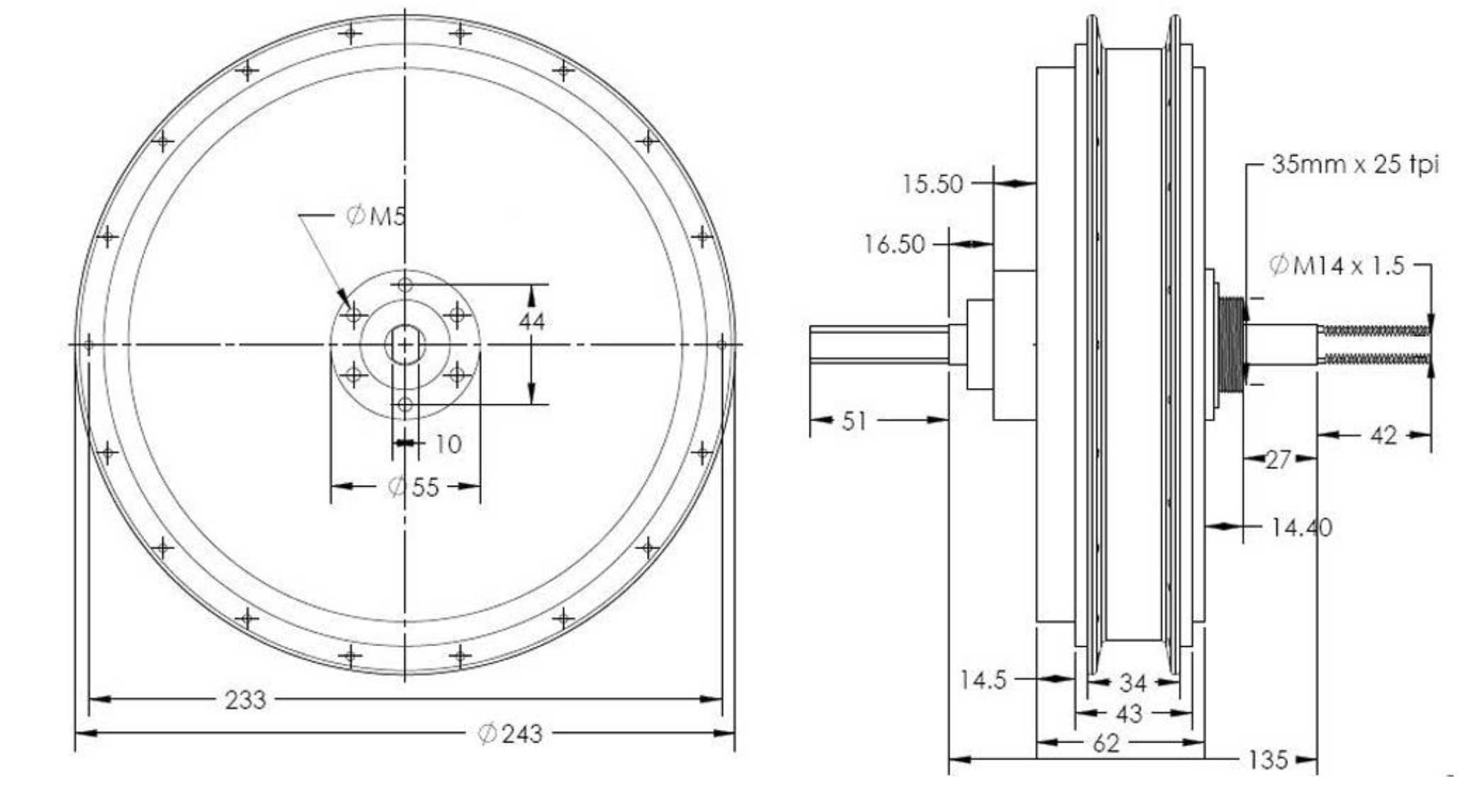 plan 2D RH 205 C