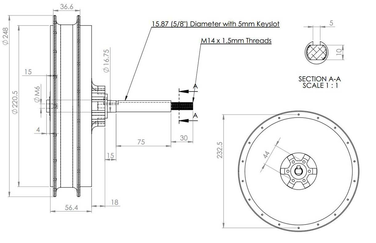 plan 2D moteur HS3540