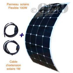 Panneau solaire 12V 100W souple Sunpower Back contact