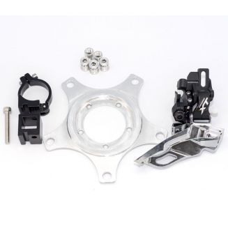 Dual chainwheel road kit for Bafang BBS01 BBS02 mid-drive motor