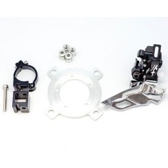 Kit double plateau VTT pour moteur pédalier Bafang BBS01 BBS02