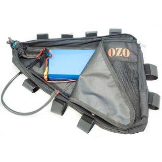 Trianglular frame bag for battery