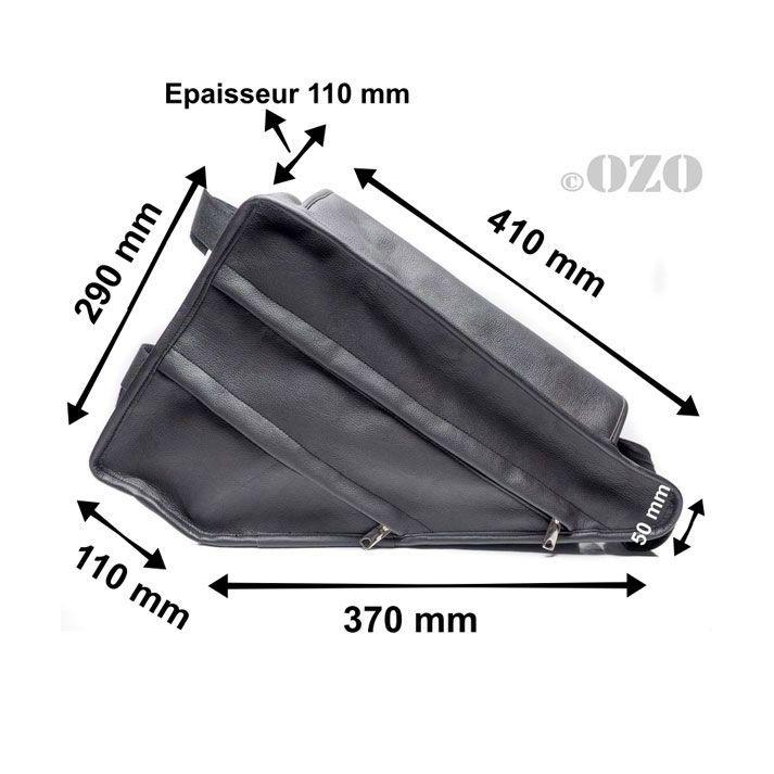 Sac triangle en cuir (skaï) de cadre pour batterie