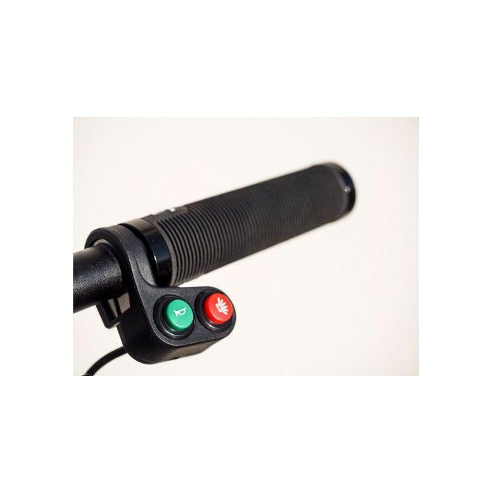 Interrupteur double pour vélo électrique (1 interrupteur 2 positions + 1 bouton poussoir)