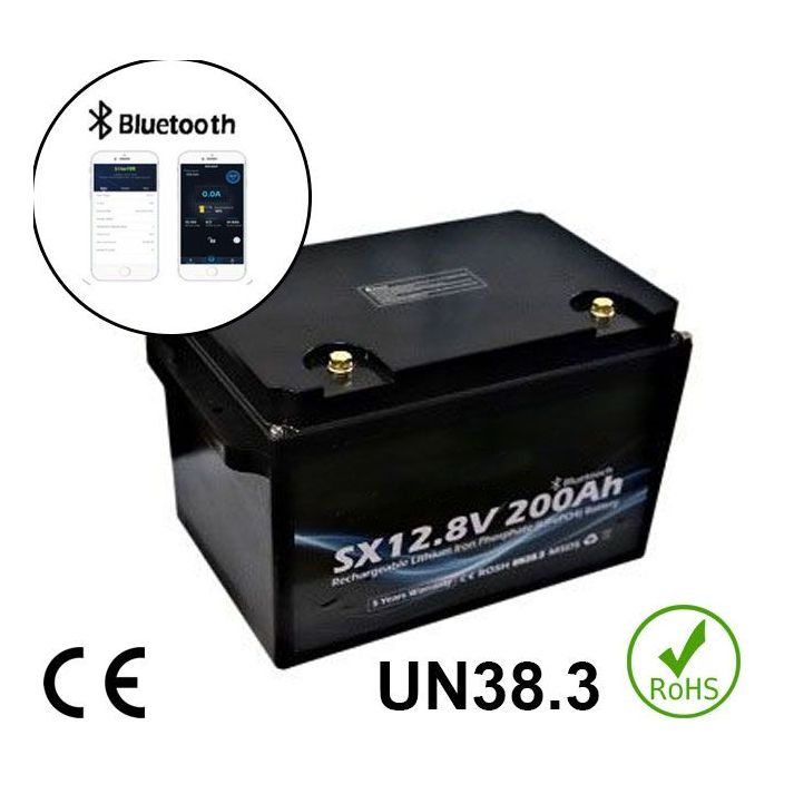 12V 200Ah 2560Wh Battery Lithium iron phosphate