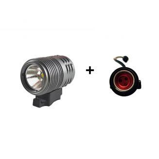 Pack lampe à Led 1000 Lumens avec batterie SAMSUNG Li-ion 8.4V 2.6Ah pour vélos avec lampe arrière 150 lumens