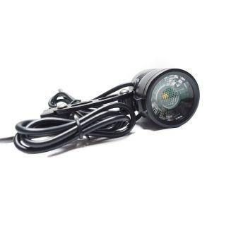 Eclairage avant 200 lumens pour vélo electrique. Lampe OZO. alimentation de 18V à 56V DC