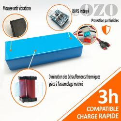 36V 31Ah 1100Wh PVC Battery SANYO Lithium