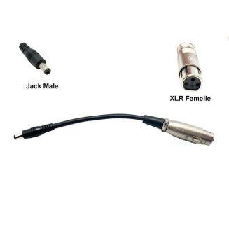 Adaptateur pour prise de charge XLR femelle Jack mâle