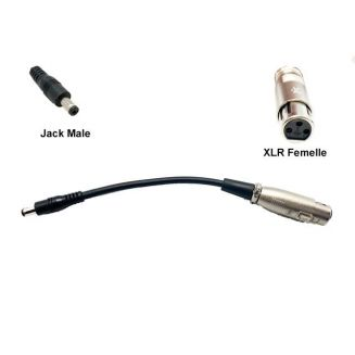 Charging adapter XLR female Jack male