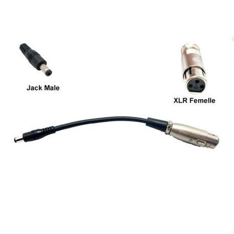 Charging adapter XLR female Jack male