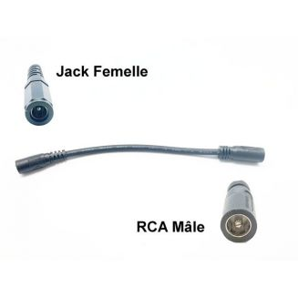 Adaptateur pour prise de charge RCA mâle - Jack femelle