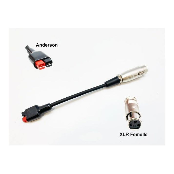 Solar recharge wire Anderson to XLR for cycle analyst