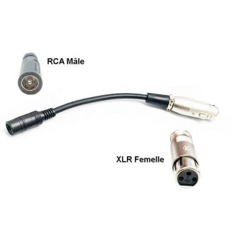 Charging adapter XLR female RCA male
