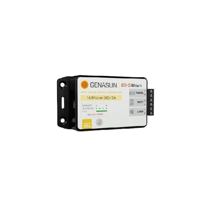 12V 10A MPPT Solar Charger Genasun Lead-acid / Li-ion / Iron phosphate Lithium