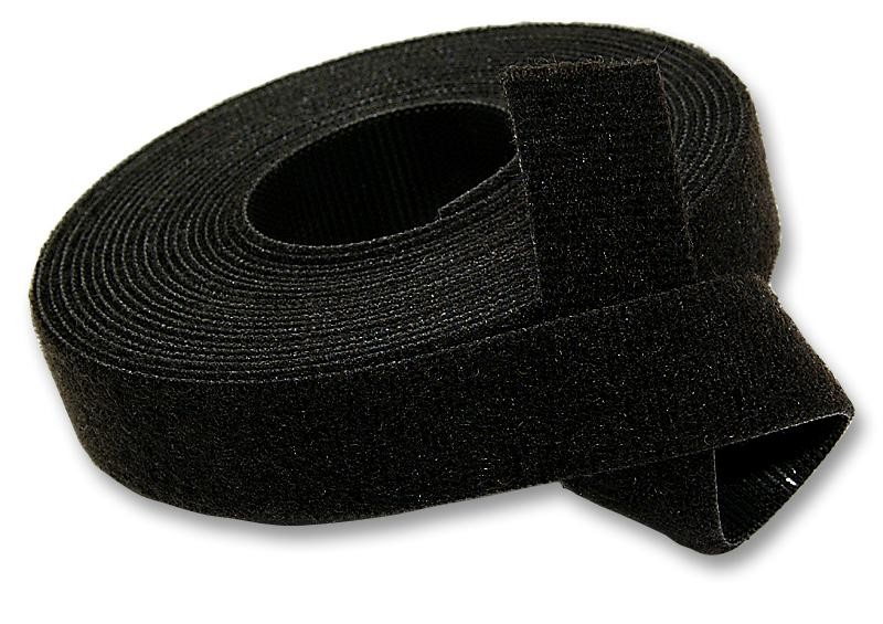 bande velcros double face noir. Black Bedroom Furniture Sets. Home Design Ideas