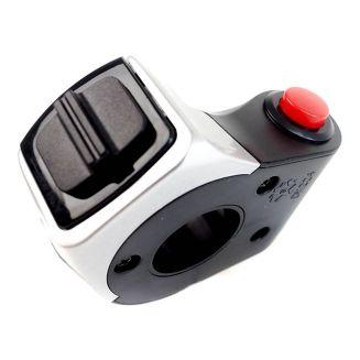 Combiné bouton poussoir rond rouge + selecteur 2 positions ON/OFF