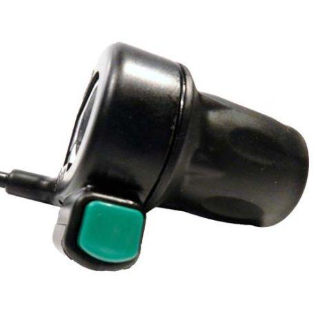 Demi-poignée d'accélérateur avec boutton poussoir