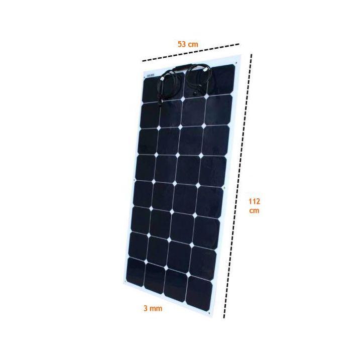 Panneau solaire 12V 120W souple Sunpower Back contact