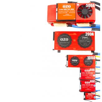 OZO BMS Lithium Battery LiMn ou LiFePO4 LFP 24V 36V 48V 60V 72V