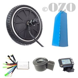 Kit scooter motor electric wheel 8 inches 200 mm 250W with battery PVC 36V