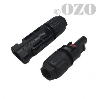 Pair of MC4 connectors for solar panels