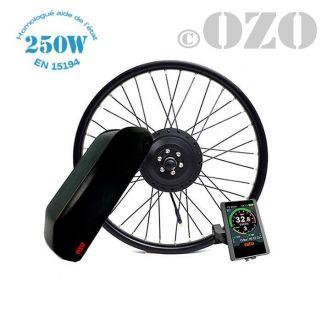Kit Bobber 250W roue avant 20 ou 24 pouces avec batterie cadre 36V