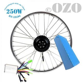 Solex electric front wheel motor kit 17 or 19 inches 250W with 36V PVC battery