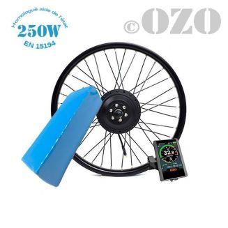 Kit Bobber 250W roue avant 20 ou 24 pouces avec batterie PVC 36V