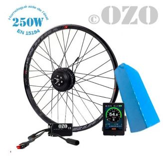 Road Kit 250W front wheel 700c with 36V PVC battery