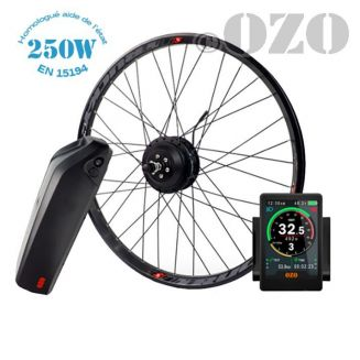 Road Kit 250W front wheel 700c with 36V casing battery