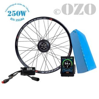 Touring 250W rear wheel kit 26 to 29 inch with 36V PVC battery