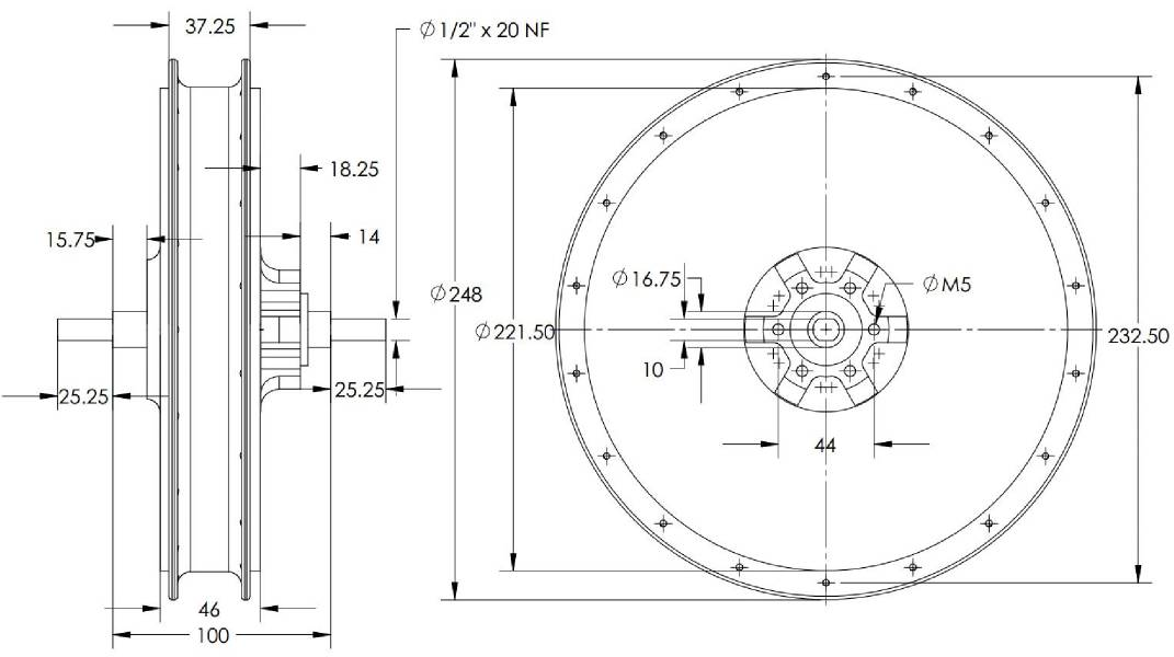 HS2440_dimensions